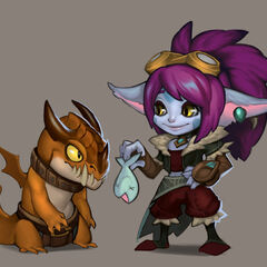 Dragon Trainer Tristana Concept (by Riot Artist <a href=