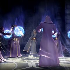 A team of Summoners during a battle