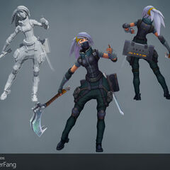 Silverfang Akali Update Model 1 (by Riot Artists <a href=