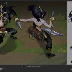 Concepto de la actualización de Akali 9 (por el artista de Riot, <a class=