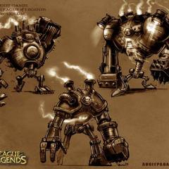 Grafika koncepcyjna Blitzcranka 2 (w wykonaniu Augiego Pagana)