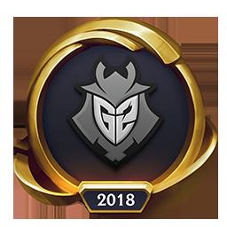 Worlds 2018 G2 Esports (Gold Emote)