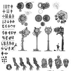 Piltover clock concept art 1 (by Riot Artist <a rel=