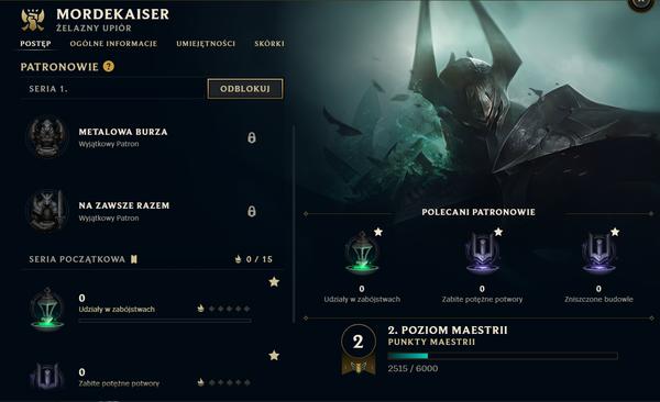 Kolekcja - profil postaci (Patronowie - V10.5)