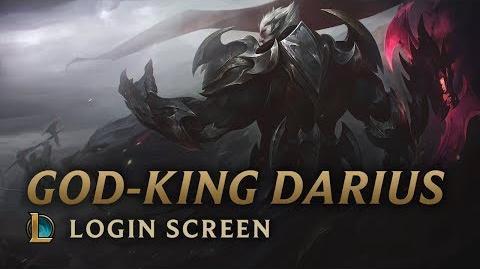Boski Król Darius - ekran logowania