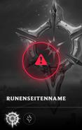 Unvollständige Runenseite