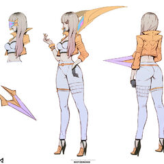Concepto de Kai'Sa K/DA (Edición Prestigiosa) (por el artista de Riot, <a class=