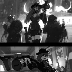 Crime City Miss Fortune Update Splash Concept 1 (by Riot Artist <a href=