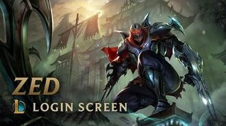 Zed, the Master of Shadows - Login Screen