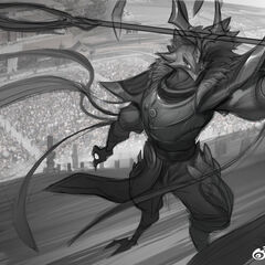 Warring Kingdoms Azir Splash Concept 2 (by Riot Artist <a href=