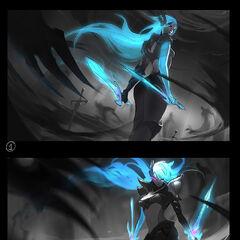 Death Sworn Katarina Splash Concept 1 (by Riot Artist <a href=