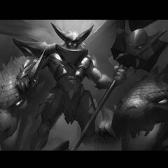 Dragon Knight Mordekaiser Update Splash Concept 6 (by Riot Contracted Artist <a rel=