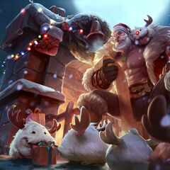 Reindeer Poros in Santa Braum splash art