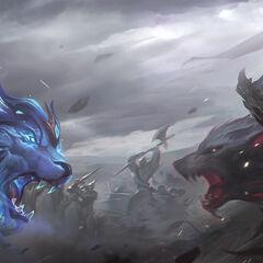 God King Darius and God King Garen Splash Concept 2 (by Riot Artists <a href=