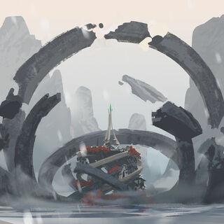 Swirl Rocks Altar