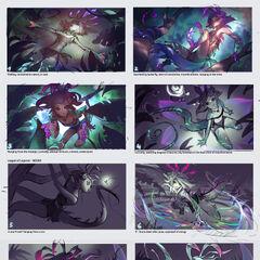 Concepto de la ilustración de Neeko 1 (por el artista de Riot, <a class=