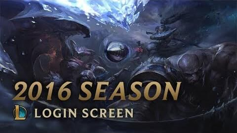 Saison 2016 - Login Screen