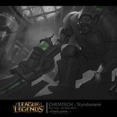 Chemtech Tryndamer Splash Concept (by Riot Artist <a href=