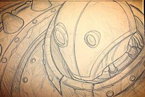 Ironstylus Blitzcrank Zeichnung