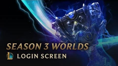 Season 3 World Championship - Login Screen
