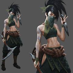 Concepto de Akali en Awaken 1 (por el artista de Riot, <a class=