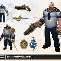 Sailor Gangplank Update Concept (by Riot Artist <a href=