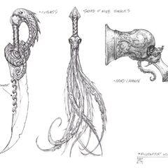 Bilgewater weapons concept art