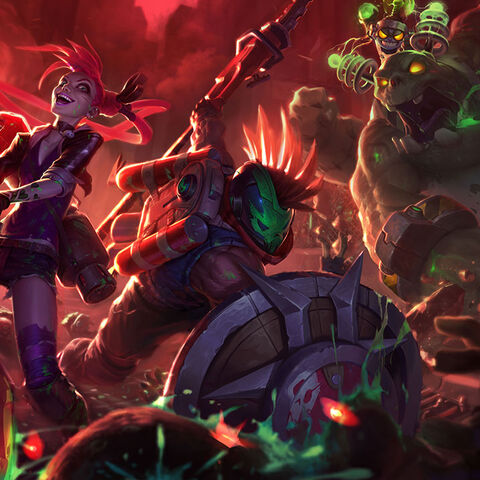 Zombie Nunu, Zombie Slayer Jinx, and Zombie Slayer Pantheon