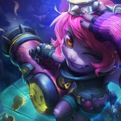 Poro & Poro doll in the Riot Girl Tristana Splash