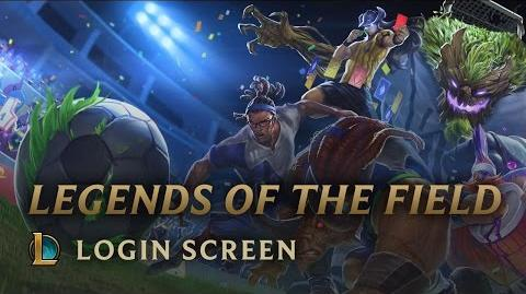 Legenden des Spielfelds - Login Screen