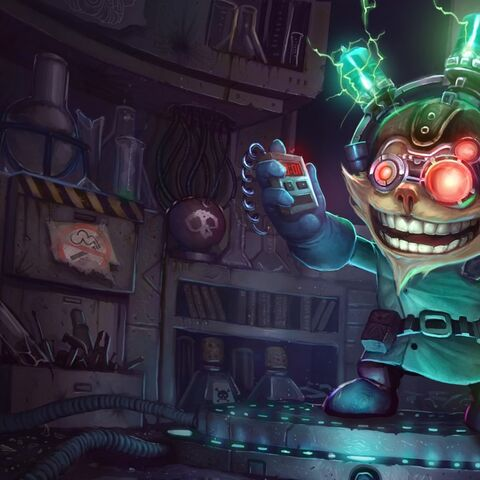 Ziggs Scientist Singed