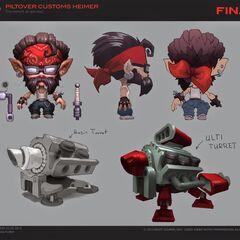 Piltover Customs Heimerdinger Update Concept (by Riot Artist <a href=