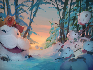Legend of the Poro King background
