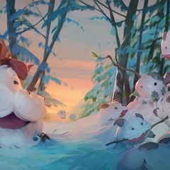 Legend of the Poro King Loading background