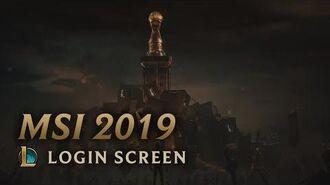 MSI 2019 - Login Screen