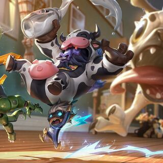 <small>Moo Cow Alistar, Super Kennen, Pug'Maw, and Renektoy</small>