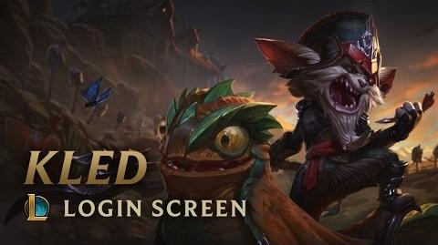 Kled, the Cantankerous Cavalier Login Screen - League of Legends
