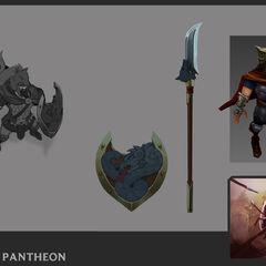 Glaive Warrior Pantheon Update Concept 1 (by Riot Artist <a href=