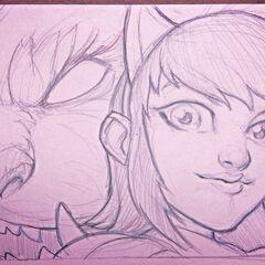 Szkic Annie (w wykonaniu Michael 'IronStylus' Maurino)