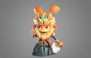 Wukong Strahlender Statue model 01