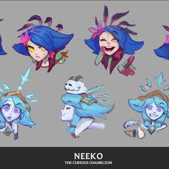 Koncept emotek Neeko 2 <small>(autor: <a class=