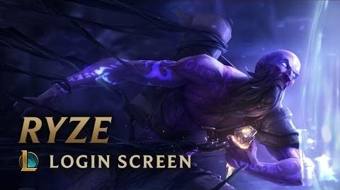 Ryze, the Rune Mage - Login Screen