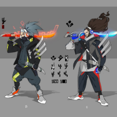 True Damage Yasuo Concept 1 (by Riot Artist <a rel=