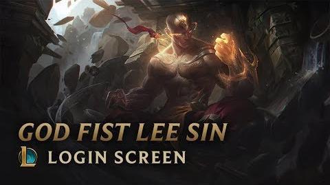 Lee Sin Boska Pięść - ekran logowania