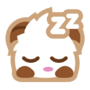 Poro sticker sleepy