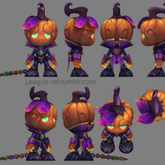 Pumpkin Prince Amumu Model