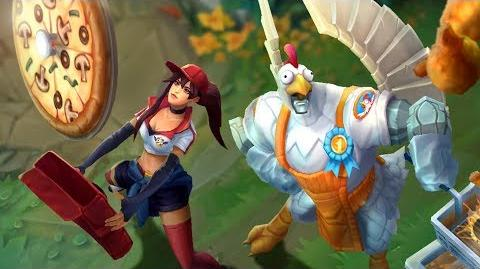 Fried Chicken and Pizza Delivery April Foods Skins Trailer - League of Legends