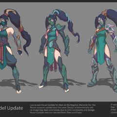 Concepto de la actualización de Akali 2 (por el artista de Riot, <a class=