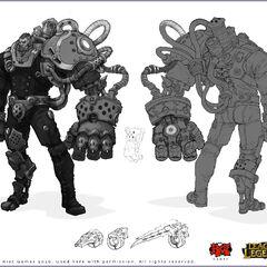 Zaun Vigilnaut (Ekko trailer) concept art 1 (by Riot Artist <a rel=