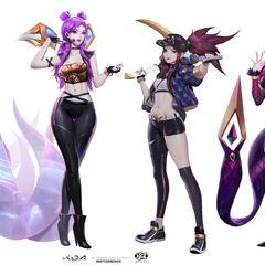 Concepto del grupo K/DA 1 (por el artista de Riot, <a class=